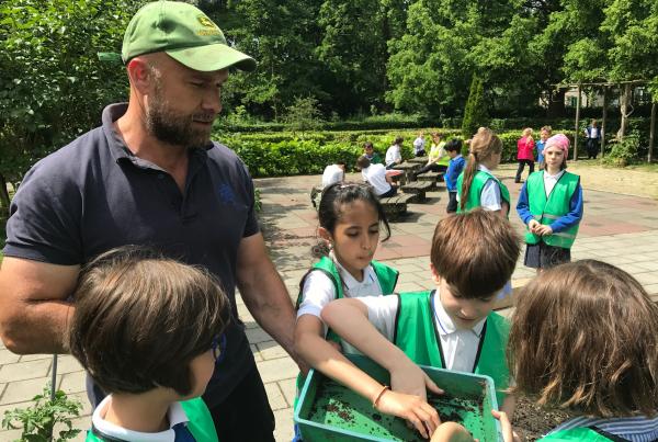 Gardening learning with Vojin Grujic at JSV