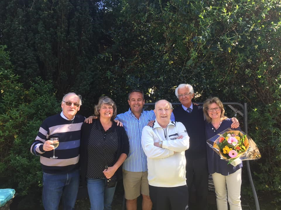 Joop in 2019 with family and friends