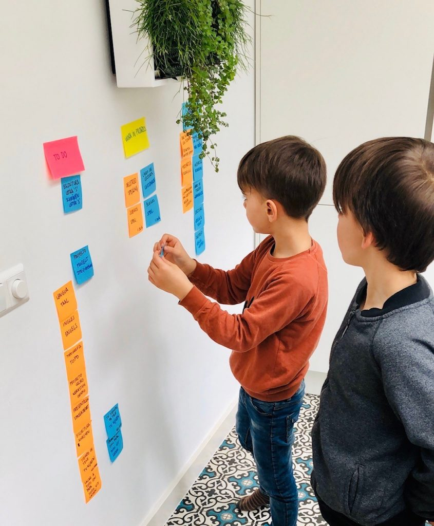 Scrum tool to manage your children's homework and activities during corona crisis